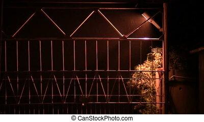 lantern - night, rain, shine a lantern, closed the gate