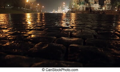 Night Red Square Kremlin St. Basil's Cathedral slider