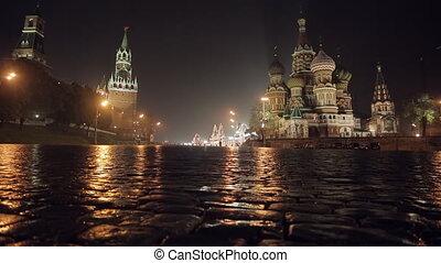 Night Red Square slider - Night Red Square Kremlin St....
