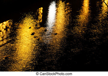 Night reflection in the river