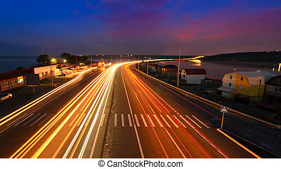 Night road - highway