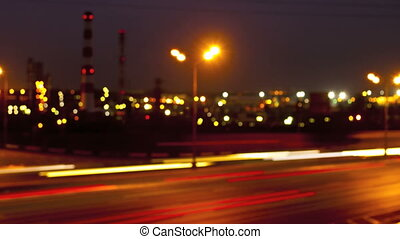 night road with lights