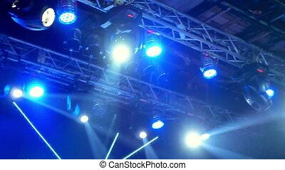 Night rock concert light - Iconic night rock concert front...