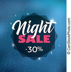 Night sale dark banner - Vector illustration night sale dark...