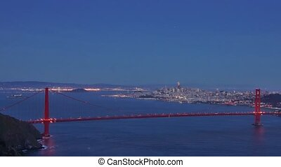 Panoramic time-lapse of San-Francisco and Golden Gate