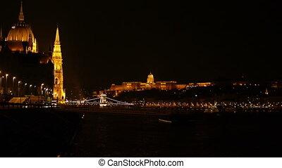 Night scene at Budapest, Hungary