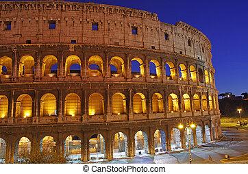 Night Scene at Colosseum