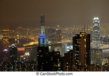 Night scene fo Hong Kong