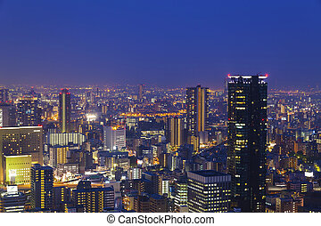 Night scene in Osaka, Japan.