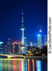 night scene of beautiful shanghai