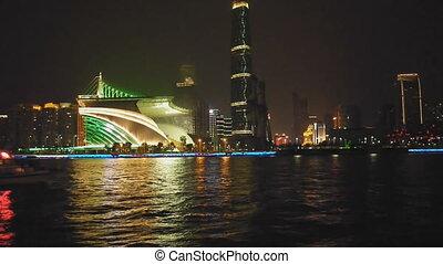 Night scene of Guanghzou city - Night scene of pearl river...