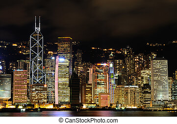 Night scene of Hong Kong cityscape