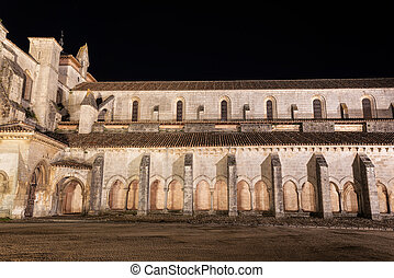 Night scene of Monasterio de las Huelgas - Burgos.  Abbey of...