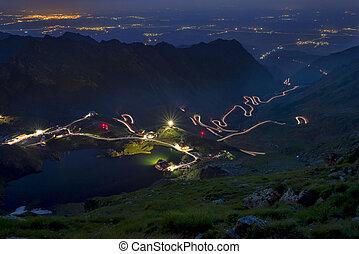 Night scene on Fagaras mountain