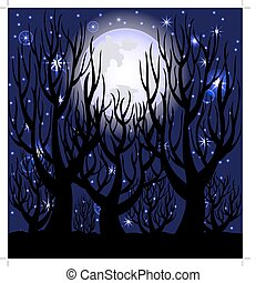 night scene. - vector illustration of a night scene.