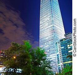night scenes of beijing financial center district
