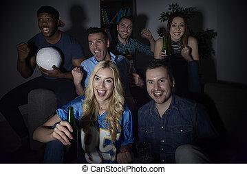 Night seance of football match