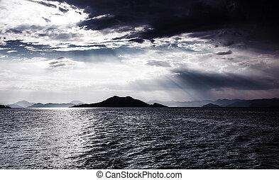 Night seascape