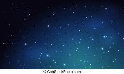 Night shining starry sky background. Footage