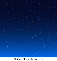 Night Shining Starry Sky Blue Space Background