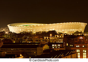 Greenpoint soccer stadium Cape Town South Africa - Night...