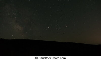 Night Sky And Forest Time Lapse - A beautiful night...