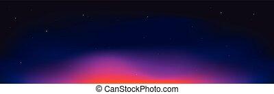 Night sky background . Cosmic sunset .