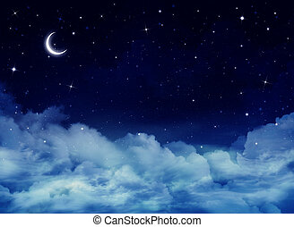 night sky, background