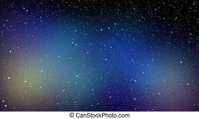 Night sky background with a nebula full of stars