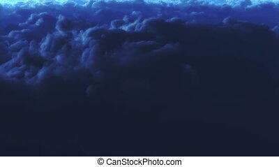 Night sky - Beautiful pan shot over clouds at night