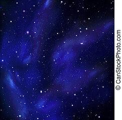 Night Sky, Milky Way, Galaxy