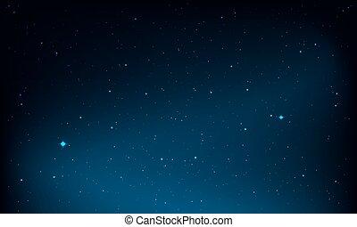 Night Sky - Night sky background, vector illustration.