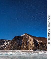 Night Sky over Bay Uzur, Olkhon Island, Lake Baikal, Russia