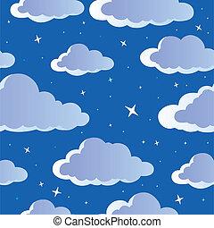 Night sky seamless background 1