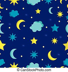 Night sky seamless pattern