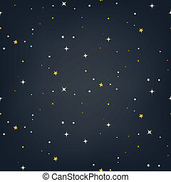 Night sky stars seamless vector