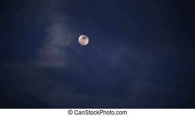 Night sky and moon.