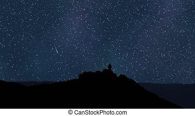 Night sky time lapse 4k UHD