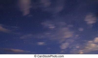Night sky. Time Lapse