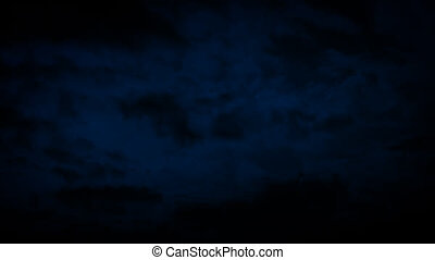Night Sky With Clouds Moving Slowly