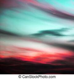 Night sky with clouds/nebula