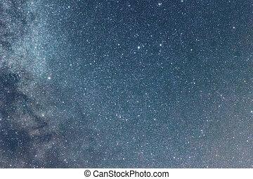 Night sky with shiny stars, Milky Way galaxy