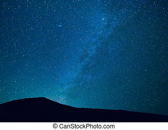 Night Sky with Stars and Galaxy - Stars in the Night Sky, ...