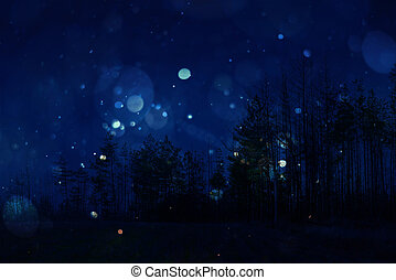 Night sky with trees