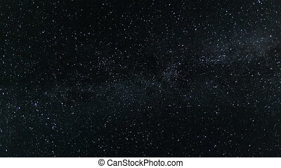 Night sky with twinkle stars and milky way time lapse
