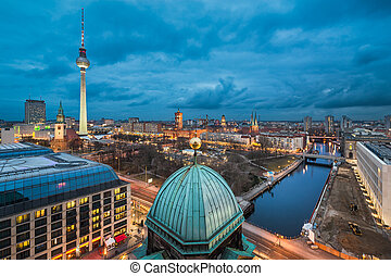 Night skyline of Berlin