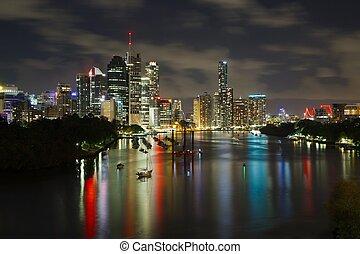 Brisbane - Night skyline of Brisbane, Australia