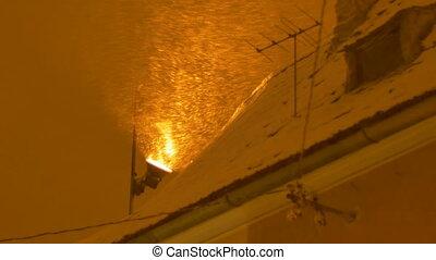 Night Snowing Light Projector
