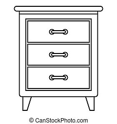 Night stand icon, outline style