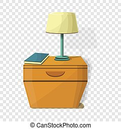 Night stand lamp icon, cartoon style
